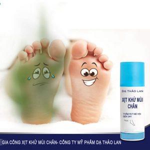 Gia công xịt khử mùi chân/ Gia công mỹ phẩm, xịt khử mùi theo yêu cầu